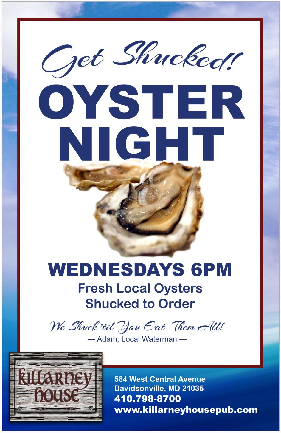 Oyster Night KH Fall 2018